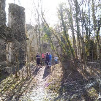Auf dem Gelände der Burgruine
